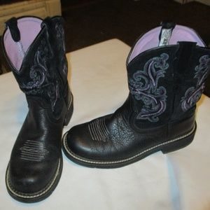 Ariat Shoes - Ariat Black Leather Cowboy Boot SZ 8.5 B